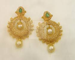 bengali gold earrings earrings jhumkis chandbali gold jewellery earrings jhumkis