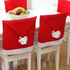 santa chair covers away any bah humbug moods with these whimsical santa hat