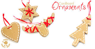 pretty cardboard ornaments craft room