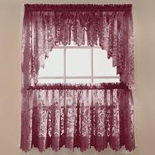 Jcpenney Purple Curtains Jcp Home Shari Lace Rod Pocket Window Tier Jcpenney For The