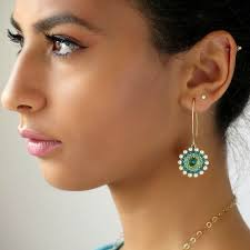 turquoise bridal earrings turquoise earrings dangle turquoise and gold earring
