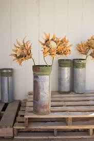 metal ammunition canister vase recycled metal ammunition canister vase