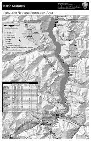 Map Of Lake Washington by Maps North Cascades National Park U S National Park Service