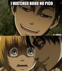 Boku No Pico Meme - attack on titan meme boku no pico is a shotacon anime basically