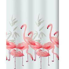 Flamingo Shower Curtains Shower Curtains 180 X 200cm Home Decoration Club
