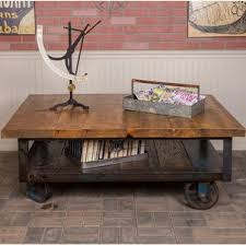 Industrial Cart Coffee Table Railroad Cart Coffee Table Wayfair