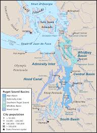 Washington Map With Cities by Puget Sound Region Wikipedia