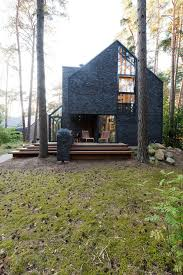 modern forest house dedicated to blues music black house blues