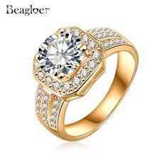 aliexpress buy beagloer new arrival ring gold online alışveriş beagloer top sale 2016 new trendy ring gold