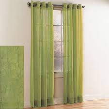 Lime Green Sheer Curtains Crystal Crushed Grommet Sheer Panel Lime