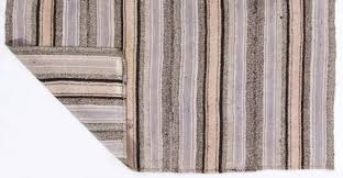 Cotton Flat Weave Rug Striped Cotton And Wool Anatolian Kilim Flat Woven Rug For Sale At