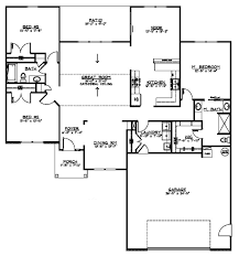 ranch style house plan 3 beds 2 baths 1904 sq ft plan 1064 9