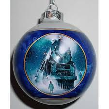 your wdw store seaworld christmas ornament blue polar express ball