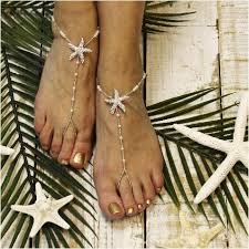 starfish barefoot sandals starfish barefoot sandals wedding silver starfish foot jewelry