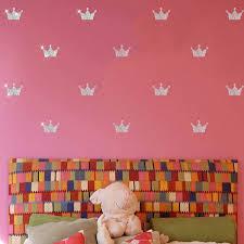 children room wall stickers crown princess bedroom living room