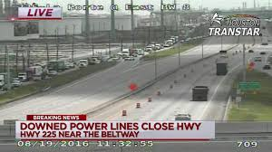 Houston Transtar Traffic Map Sh 225 At Beltway 8 Reopens After Power Lines Cleared From Freeway