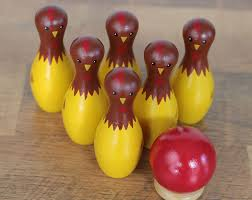 chicken tabletop bowling set made in the usa by our backyard