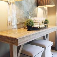 Entryway Tables And Consoles Ottomans Under Console Table Design Ideas