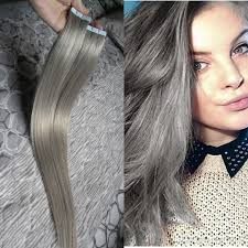 silver hair extensions wholesale skin weft in human hair