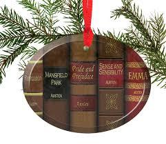 austen novels glass ornament handmade