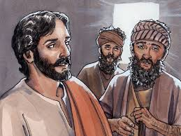 Jesus Healed The Blind Man Free Bible Images Jesus Heals Three Men Two Were Blind And The