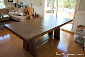 build a rustic dining room table diy rustic dining table
