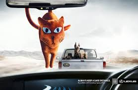 lexus ads lexus always keep a safe distance gute werbung
