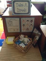 take a break spot for behavior reflection or cool down mirror to