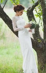 Long Sleeve Wedding Dresses Long Illusion Sleeve Bridal Dresses Long Sleeved Wedding Gown