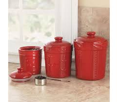 red canister sets for kitchen signature housewares sorrento canister set 3 piece chefscatalog