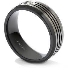 mens wedding rings melbourne commanding black titanium multi groove bevel mens wedding ring