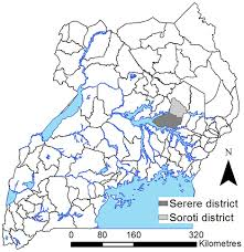 Map Of Uganda Map Of Uganda Highlighting The Study Area Serere And Soroti