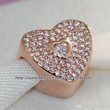 gold plated sterling silver bracelet images 925 sterling silver rose gold plated sweetheart charm bead with jpg