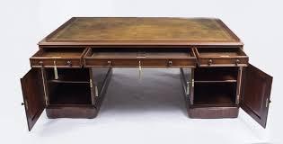 antique victorian partners desk victorian pedestal desk
