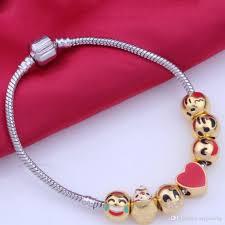 pandora style bracelet diy images 4 styles diy beads xmas enamel emoji charm bracelets for kids jpg