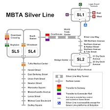 Boston Mbta Map by File Mbta Silver Line Map Svg Wikimedia Commons