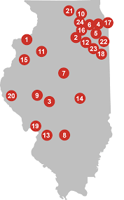 Colleges In Illinois Map by Member College Directory Associated Colleges Of Illinois