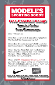 baseball flyer modell u0027s sporting goods blog