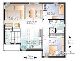 split level floor plans house plan w3323 v3 detail from drummondhouseplans com