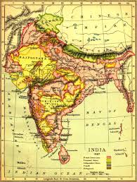 Calcutta India Map by Forces Campaigns Indian Mutiny 1857 58