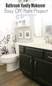 bathroom vanity makeover u2013 easy diy home paint project
