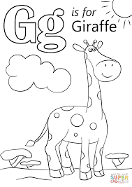 g coloring pages letter g is for giraffe coloring page free