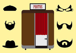 Photo Booth Accessories Vector Illustration Of A Photobooth And Other Accessories