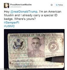 muslim marine posts his armed forces id card on to
