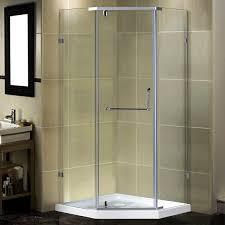 38 Inch Neo Angle Shower Doors Aston Semi Frameless 38 X 38 X 77 5 Neo Angle Pivot Shower