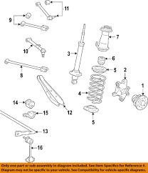 lexus is350 for sale tampa lexus toyota oem 09 13 is350 rear shock absorber or strut 4853080506