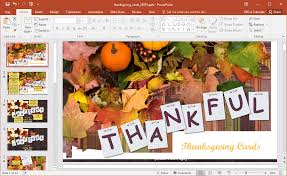thanksgiving picture cards animated thanksgiving cards powerpoint template