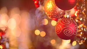 and new year decoration abstract blurred bokeh