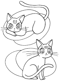 artemis and luna coloring page sailormoon sailor moon
