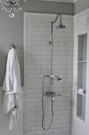 shower niche tutorial shower niche white subway tiles and